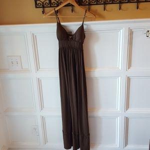 Max studio brown maxi dress small